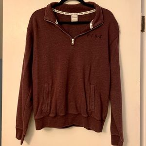 PINK by VS Small Burgundy Crewneck